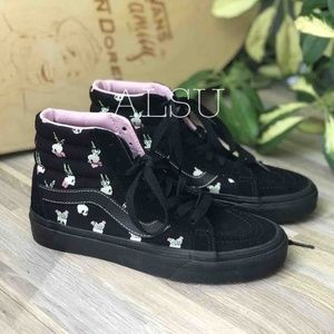 VANS SK8- Hi High Top Black Skull  Kids AUTHENTIC